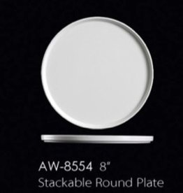 "UNIVERSAL ENTERPRISES, INC. 8"" Stackable Round Plate 24/cs"