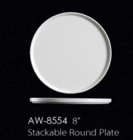"""UNIVERSAL ENTERPRISES, INC. 8"""" Stackable Round Plate 24/cs"""