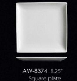 "UNIVERSAL ENTERPRISES, INC. 8.25"" Square Plate 24/cs"