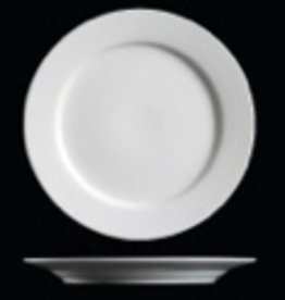 "UNIVERSAL ENTERPRISES, INC. 10.5"" Round white  Dinner Plate"