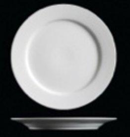 """UNIVERSAL ENTERPRISES, INC. 10.5"""" Round white  Dinner Plate 12/cs"""