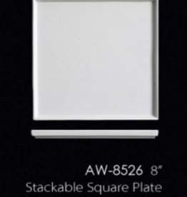 "UNIVERSAL ENTERPRISES, INC. 8"" Stackable Square Plate"