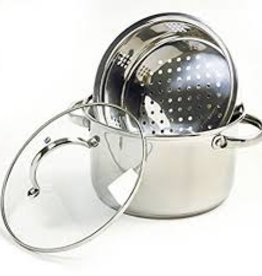 NORPRO S/S 4qt 3-pc Steamer Set w/ Pot, Colander, and Lid