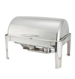 WINCO Full Size  rectangular Roll Top Chafer 8qt
