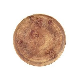 "PACIFIC MERCHANTS PM Wood 12"" Round Plate"