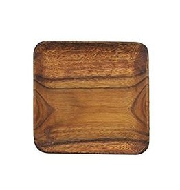 "PACIFIC MERCHANTS PACIFIC MERCHANTS Wooden Square Serving Tray/Plate 12"" x 12"" x 1"""