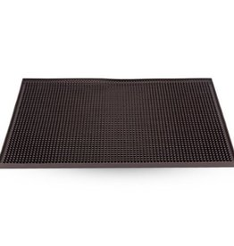 WINCO 18X12 Service Bar Mat, Black