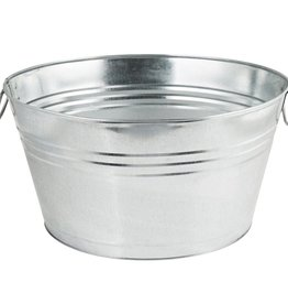 AMERICAN METALCRAFT, INC AMC Galvanized Oval Bucket beer metal silver