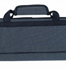 MESSERMEISTER Messermeister Padded Knife Roll 8 Pocket Blue & Black Woven
