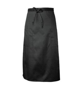 Chef Works Chef Works Two Pocket Bistro Apron Black 65% Poly/35% Cotton