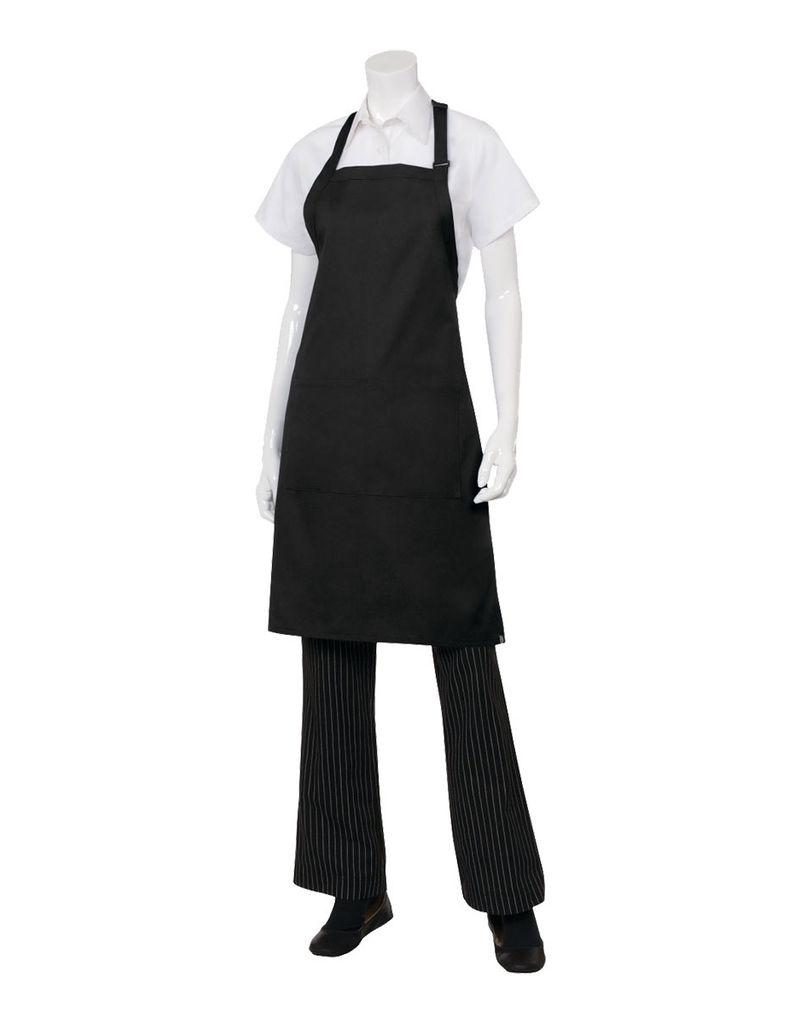 Chef Works Chef Works Butcher Apron Black 65% Poly/35% Cotton
