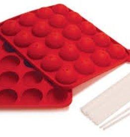 NORPRO Norpro Silicone Cake Pop Pan w/20 Sticks red