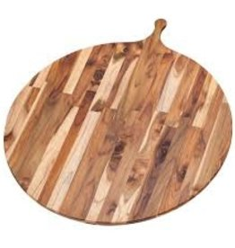 "Teak Haus TEAK Large Circular 28"" Wood Round Serving Board Teakhaus 32.5"" x 28"" x 0.55"""