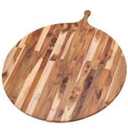 """Teak Haus TEAK Large Circular Wood Round Serving Board Teakhaus 32.5"""" x 28"""" x 0.55"""""""