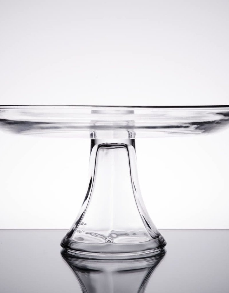"""ANCHOR HOCKING Anchor Presence 10"""" Tiered Platter glass cake"""