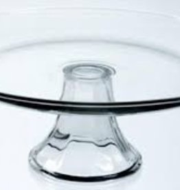 "ANCHOR HOCKING Anchor Presence 13"" Tiered Platter glass cake plate"