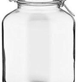 BORMIOLI ROCCO GLASS Bormioli 1.3 gallon  Fido Clear Jar 169oz
