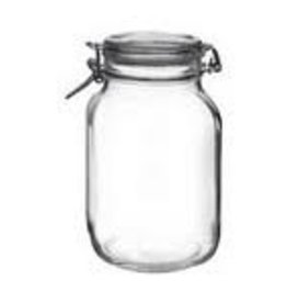 BORMIOLI ROCCO GLASS Bormioli Fido 101 oz. Jar  clear clamp