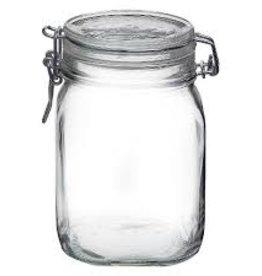 BORMIOLI ROCCO GLASS Bormioli 34 oz. Clear Fido Top Jar clamp