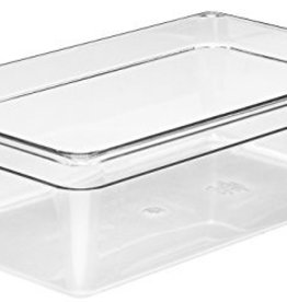 "CAMBRO MANUFACT. COMPANY Cambro Full Size Food Pan 1/1x6"" Clear, 20.6qt Capacity"