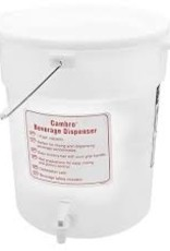 CAMBRO MANUFACT. COMPANY CAMBRO container with a spout Beverage Dispenser 6gal. White