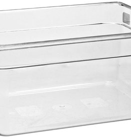 "CAMBRO MANUFACT. COMPANY CAMBRO Half Size Food Pan 1/2x6"" Clear, 9.4qt Capacity"