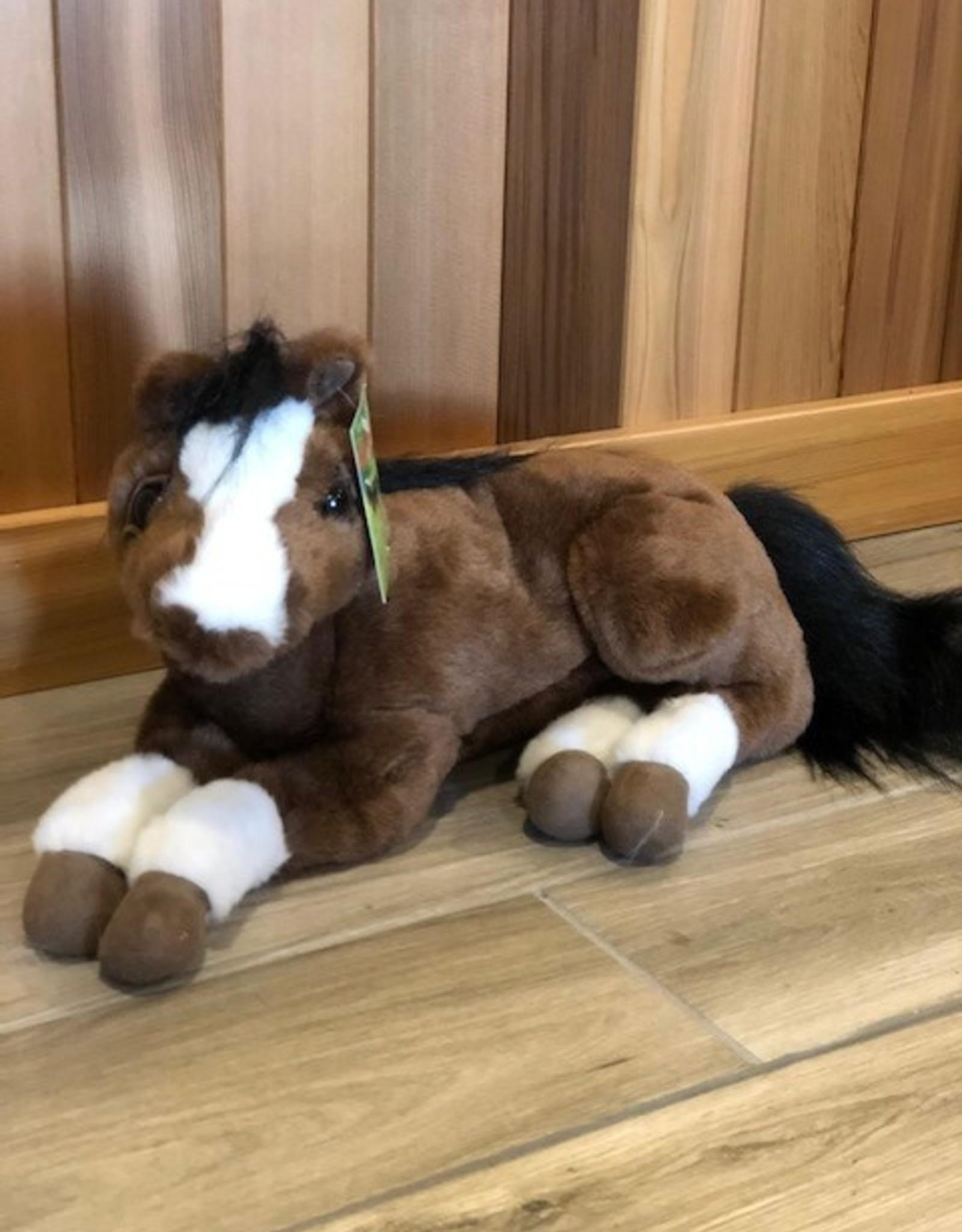 "LYING PLUSH HORSE 18"""