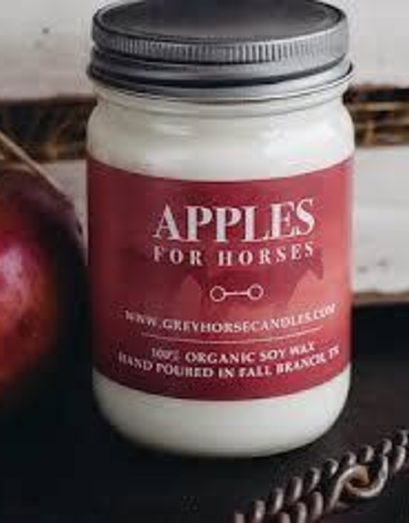 GREY HORSE CANDLE