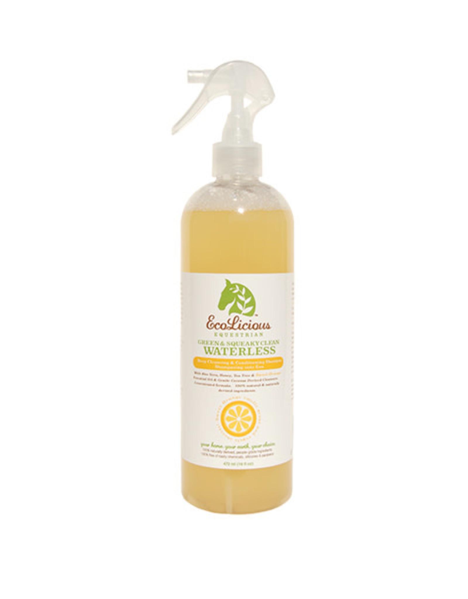 EcoLicious GREEN & SQUEAKY CLEAN WATERLESS SHAMPOO 472 ML