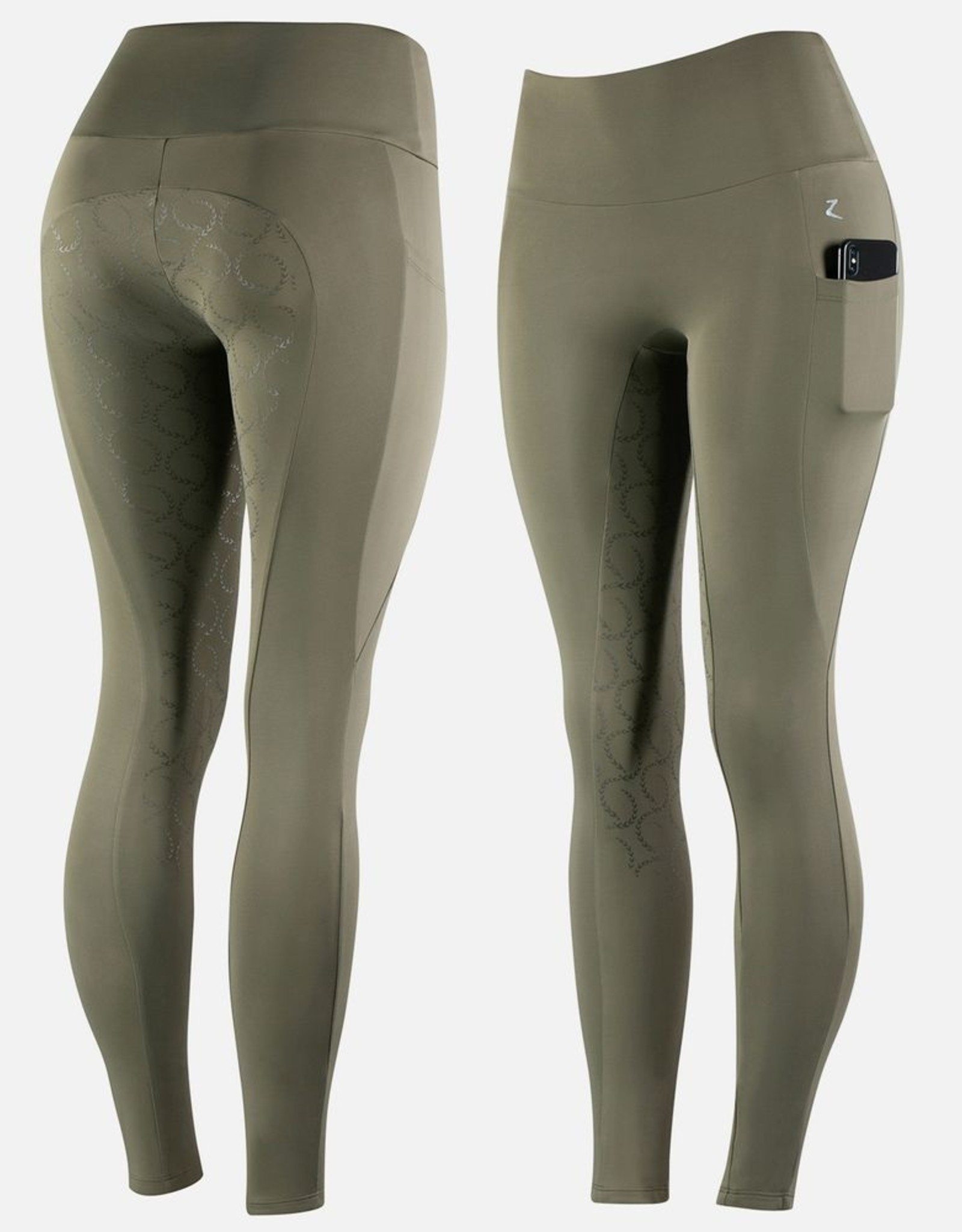 HORZE GRACIE SILICONE SEAT RIDING TIGHTS