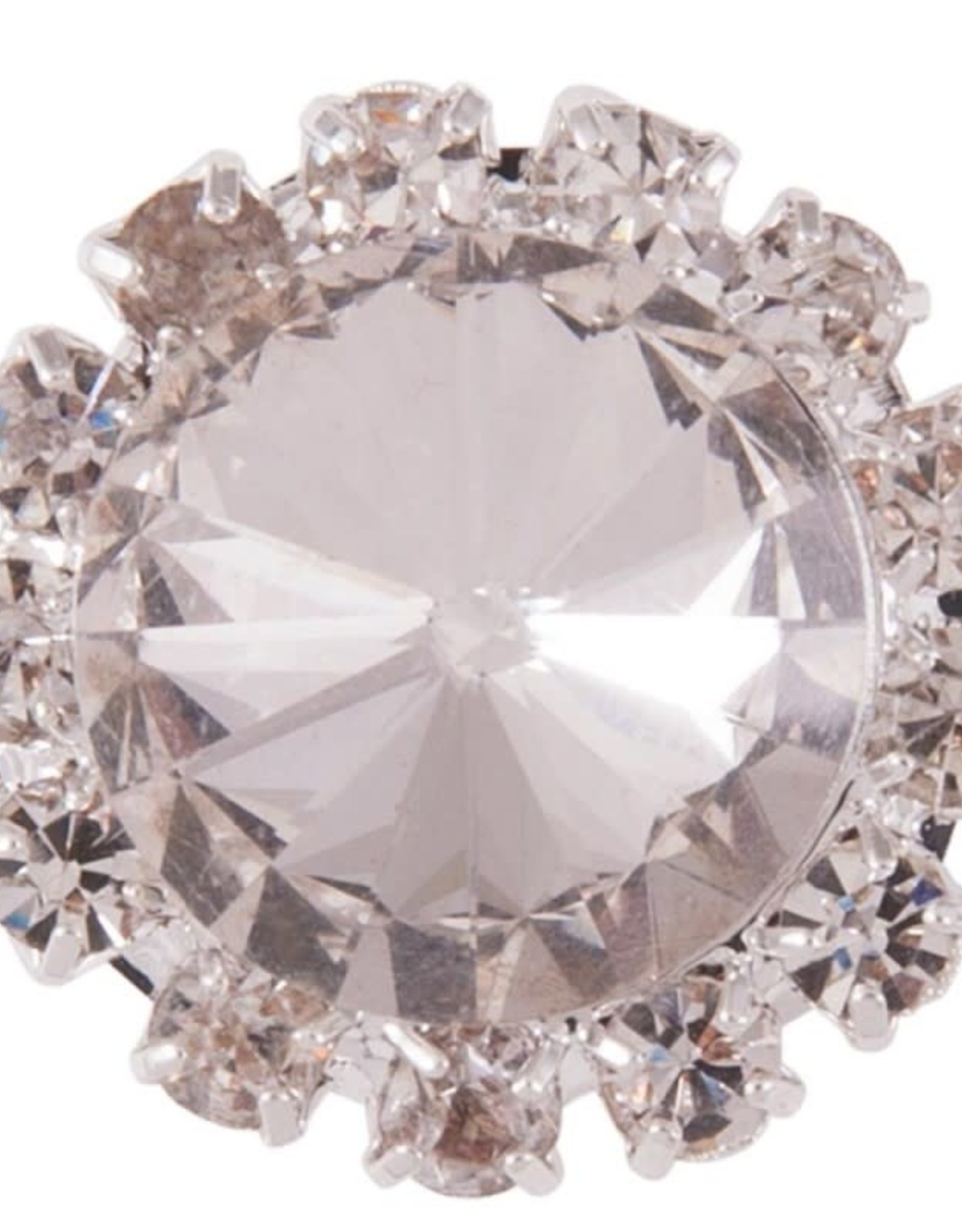 BR CRYSTAL STOCK PIN - SILVER