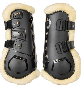 BACK ON TRACK Airflow Tendon Boots w/faux Fur