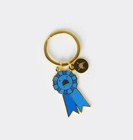 HUNTSEAT PAPER CO. WINNER BLUE RIBBON KEYCHAIN
