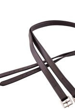 BR STIRRUP LEATHERS BLACK/SILVER 145 CM