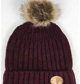 GRAYS KNITTED COIN BOBBLE HAT
