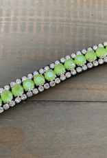 REBEL EQUESTRIAN NEON GREEN BROWBAND - FULL SIZE