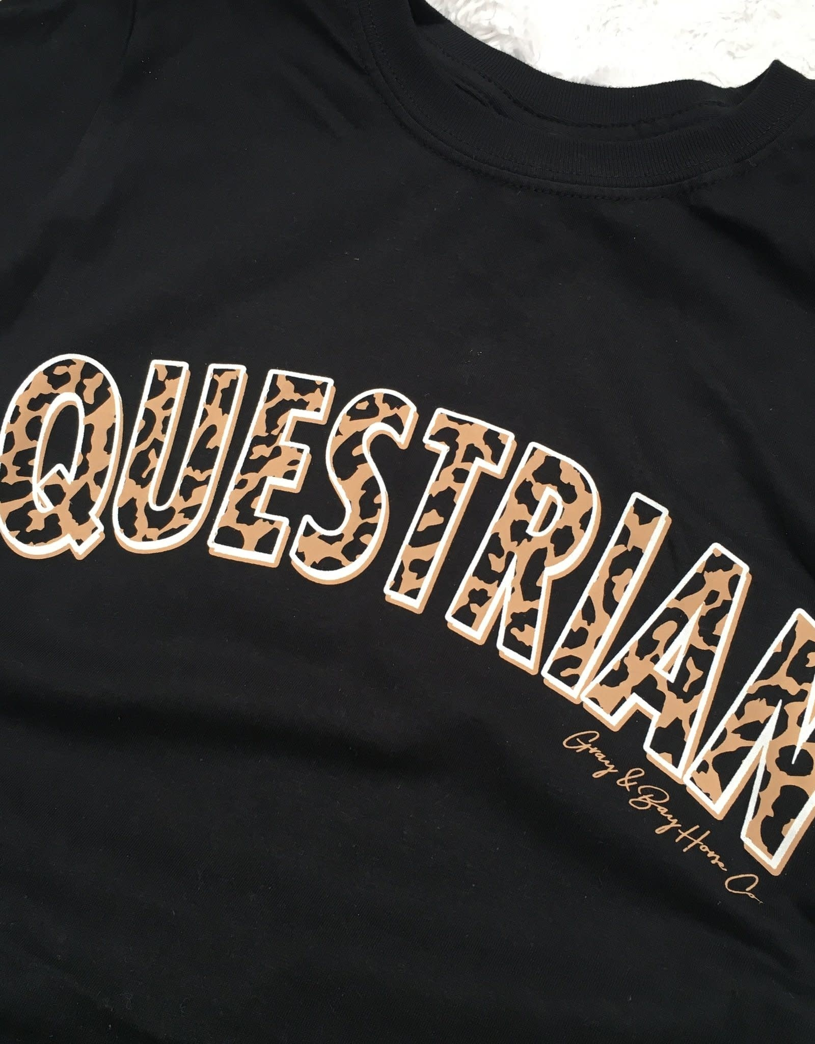 GRAY & BAY HORSE CO. The Leopard EQUESTRIAN T-Shirt SLIM FIT