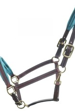 GER-RYAN LEATHER HALTER - COLOURED PADDING