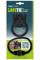 SAFE-TIE W/RING ON PLATE - BLACK