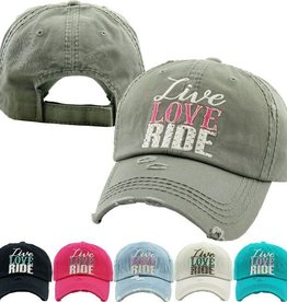 AWST LIVE LOVE RIDE CAP - BLACK