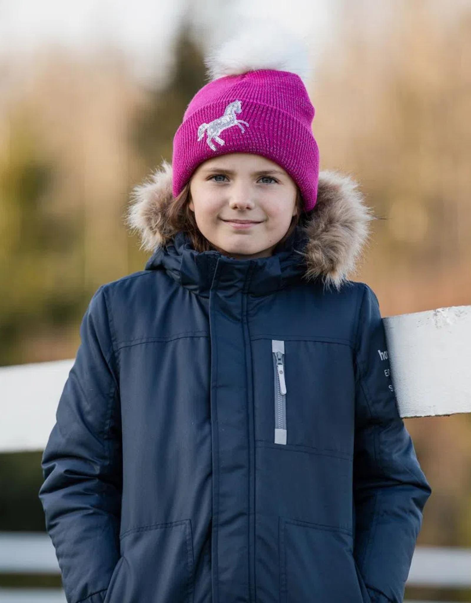 HORZE TERRY KIDS REFLECTIVE KNIT HAT