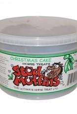 STUD MUFFINS 20 OZ CHRISTMAS CAKE TUB