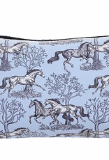 """AWST """"LILA"""" BLUE TOILE COSMETIC POUCH"""