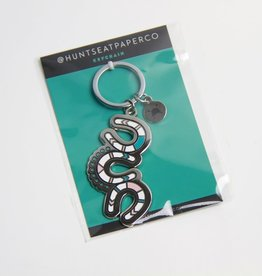 HUNTSEAT PAPER CO. THUNDERING HOOVES KEYCHAIN