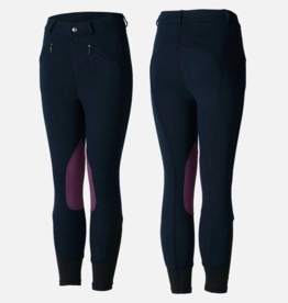 HORZE Children's Knitted Breeches with Deawoo Leather Kneepatch