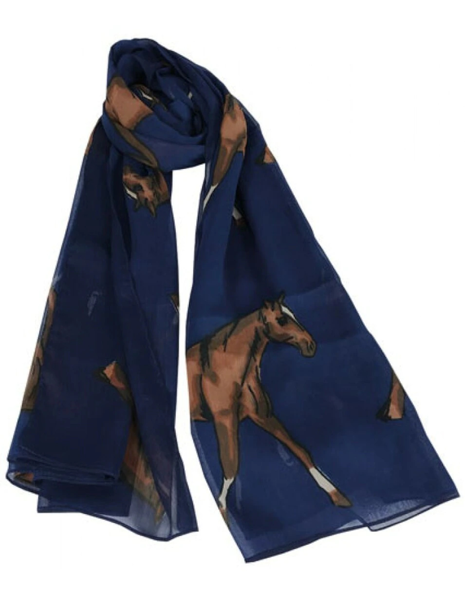 GRAYS Chiffon Scarf - Royal Equestrian
