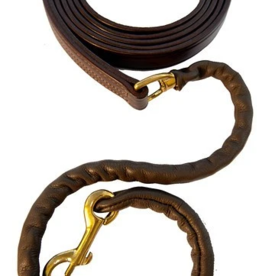 """WALSH LEATHER COVERED LEAD W/30"""" CHAIN"""