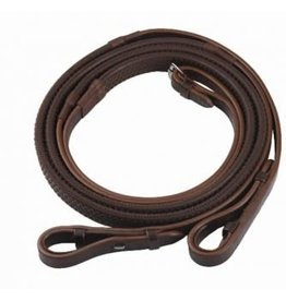 HDR 5/8 INCH RUBBER COVERED REINS - OAKBARK