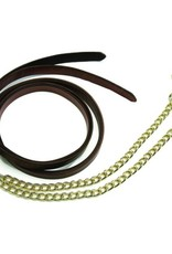 HDR ADVANTAGE LEATHER LEAD WITH SOLID BRASS CHAIN