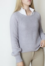 TKEQ KNIT HIGH-LOW SWEATER